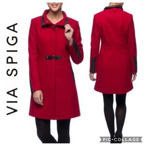 Via Spiga Wool Blend Walker Coat NWT 14